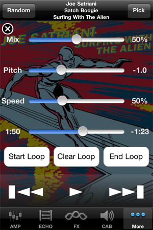 PocketAmp and PocketGK Song Trainer with Slow Downer for iTunes Music